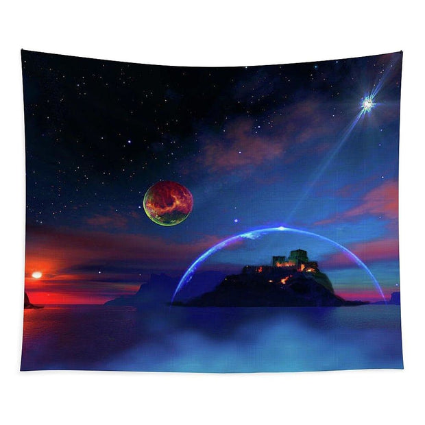 Private Planet - Tapestry - 68 x 80 - Tapestry