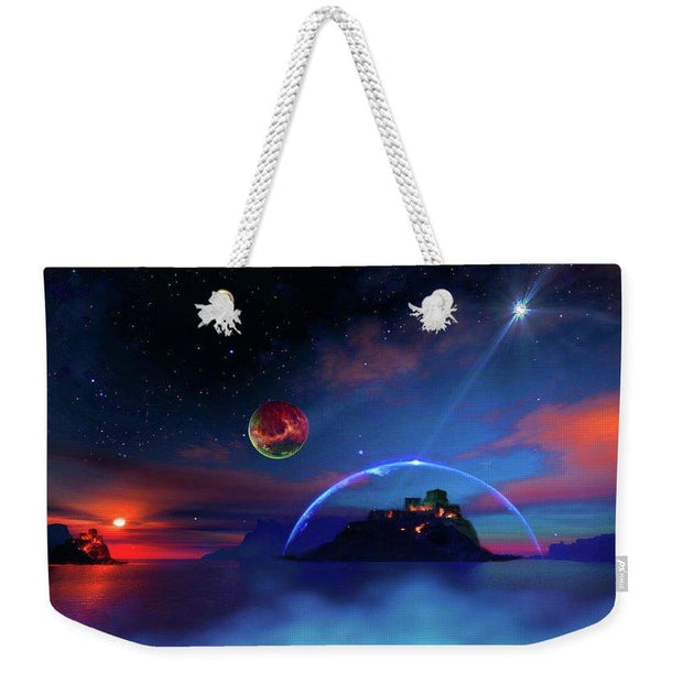 Private Planet - Weekender Tote Bag - 24 x 16 / White - Weekender Tote Bag