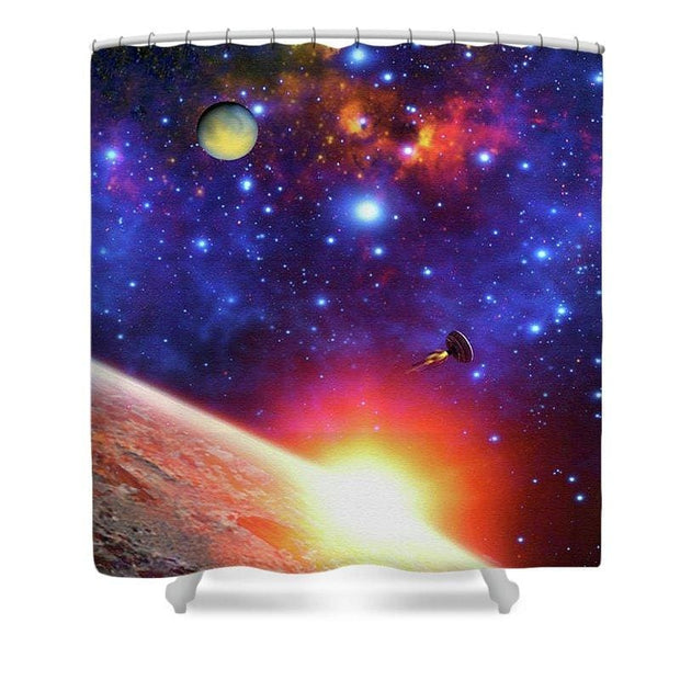Relay Station - Shower Curtain - 71 x 74 Standard - Shower Curtain