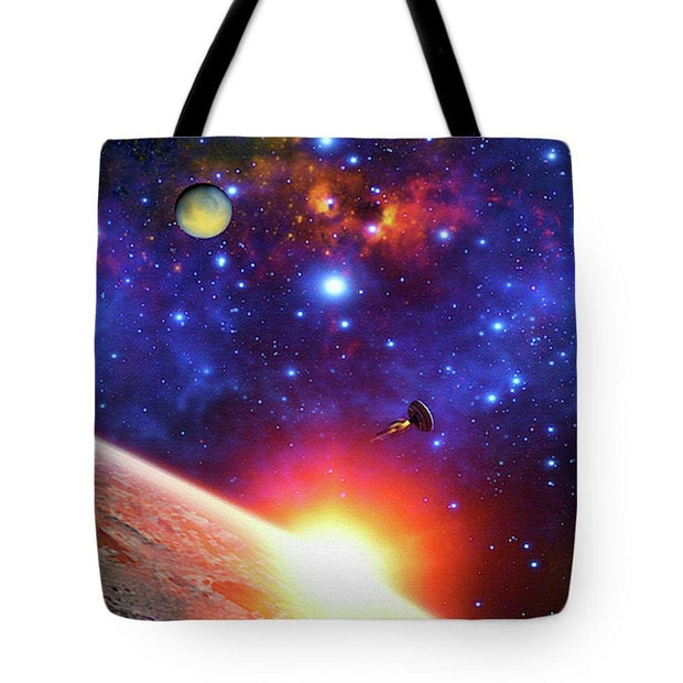 Relay Station - Tote Bag - 18 x 18 - Tote Bag