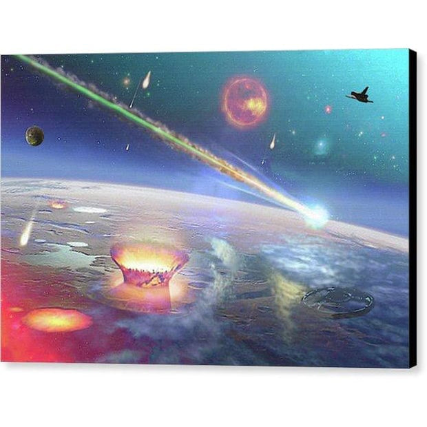 Restless Planet - Canvas Print - 12.000 x 8.000 / Black / Glossy - Canvas Print