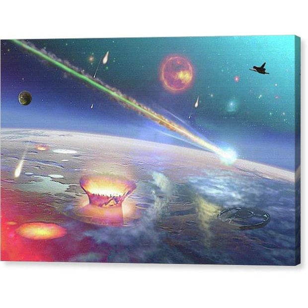 Restless Planet - Canvas Print - 12.000 x 8.000 / Mirrored / Glossy - Canvas Print
