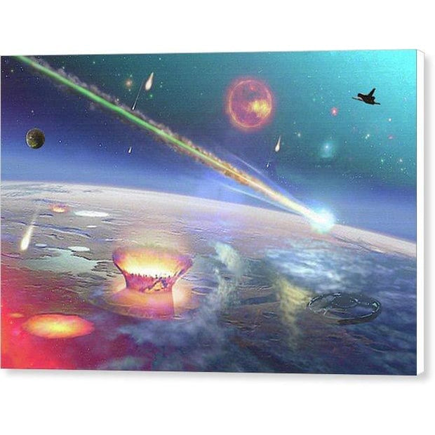 Restless Planet - Canvas Print - 12.000 x 8.000 / White / Glossy - Canvas Print