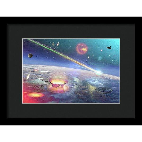 Restless Planet - Framed Print - 12.000 x 8.000 / Black / Black - Framed Print