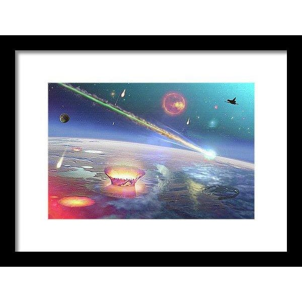Restless Planet - Framed Print - 12.000 x 8.000 / Black / White - Framed Print