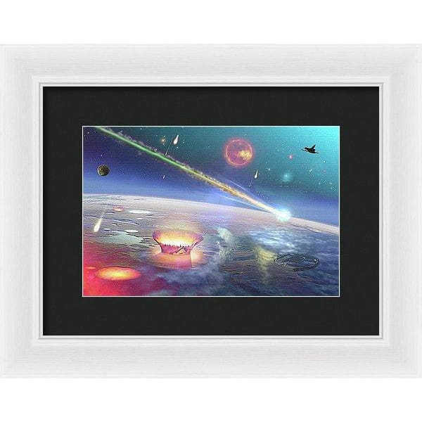 Restless Planet - Framed Print - 12.000 x 8.000 / White / Black - Framed Print