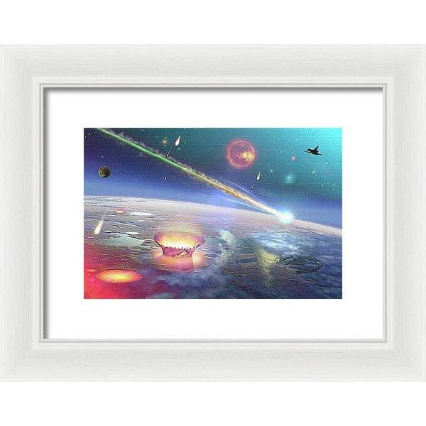 Restless Planet - Framed Print - 12.000 x 8.000 / White / White - Framed Print