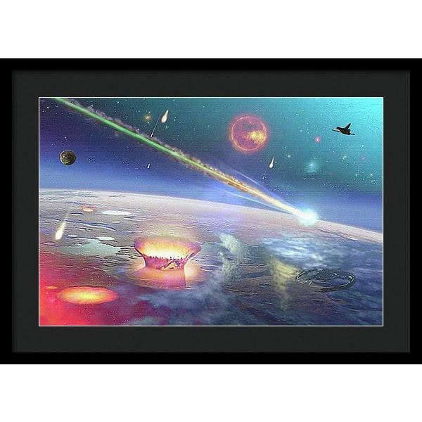 Restless Planet - Framed Print - 24.000 x 16.000 / Black / Black - Framed Print