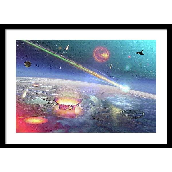 Restless Planet - Framed Print - 24.000 x 16.000 / Black / White - Framed Print