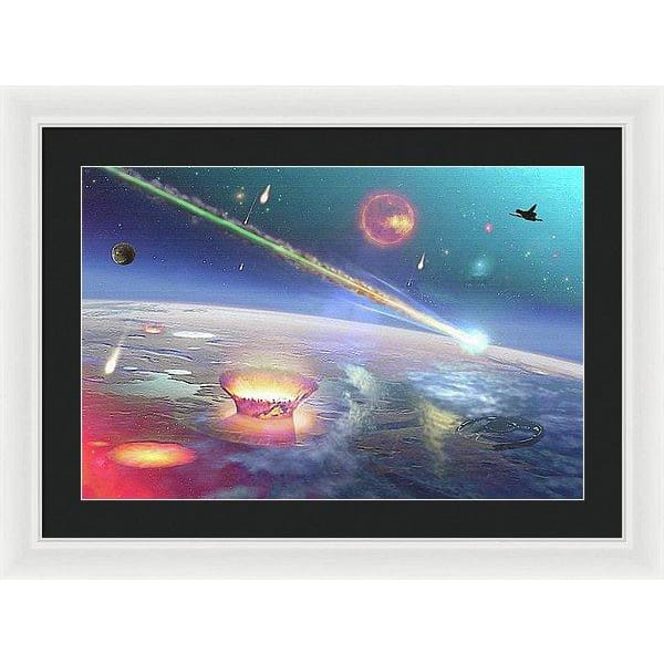 Restless Planet - Framed Print - 24.000 x 16.000 / White / Black - Framed Print