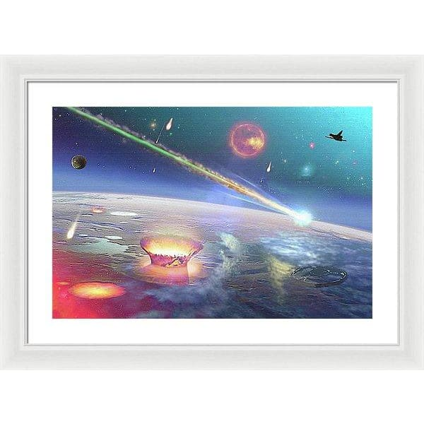 Restless Planet - Framed Print - 24.000 x 16.000 / White / White - Framed Print