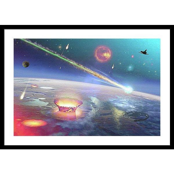 Restless Planet - Framed Print - 30.000 x 20.000 / Black / White - Framed Print