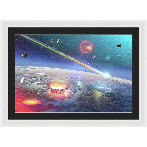 Restless Planet - Framed Print - 30.000 x 20.000 / White / Black - Framed Print