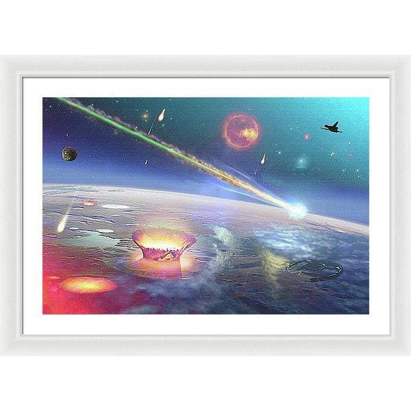 Restless Planet - Framed Print - 30.000 x 20.000 / White / White - Framed Print