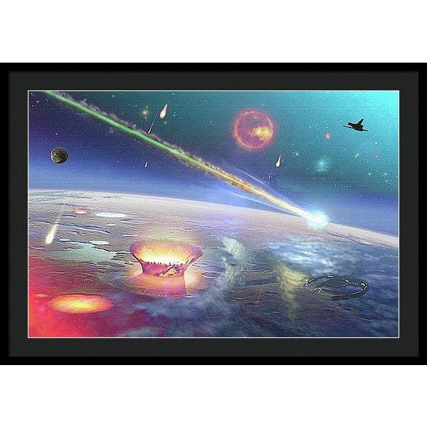 Restless Planet - Framed Print - 36.000 x 24.000 / Black / Black - Framed Print