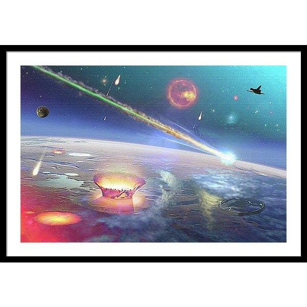 Restless Planet - Framed Print - 36.000 x 24.000 / Black / White - Framed Print