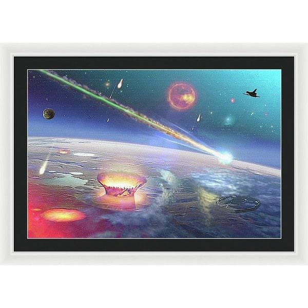 Restless Planet - Framed Print - 36.000 x 24.000 / White / Black - Framed Print