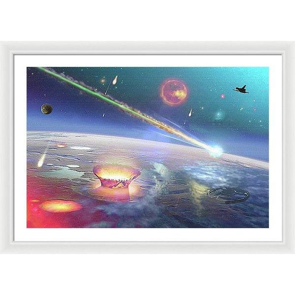 Restless Planet - Framed Print - 36.000 x 24.000 / White / White - Framed Print