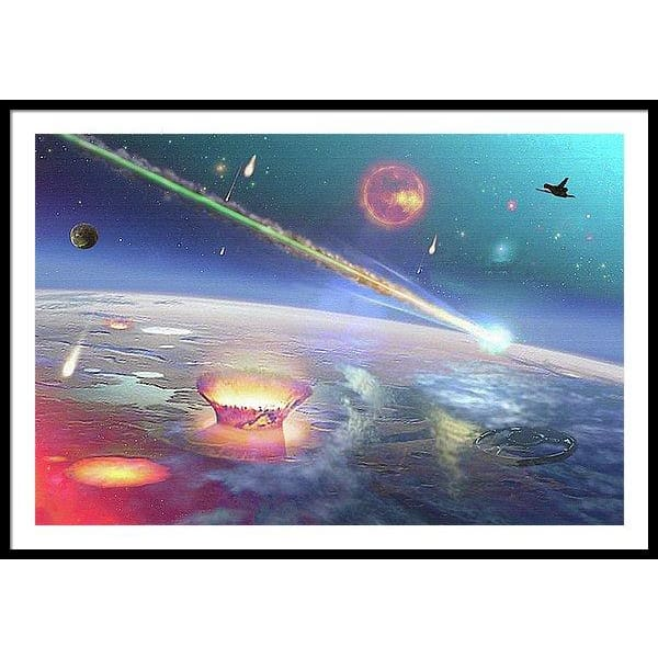Restless Planet - Framed Print - 48.000 x 32.000 / Black / White - Framed Print