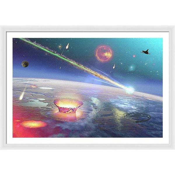 Restless Planet - Framed Print - 48.000 x 32.000 / White / White - Framed Print