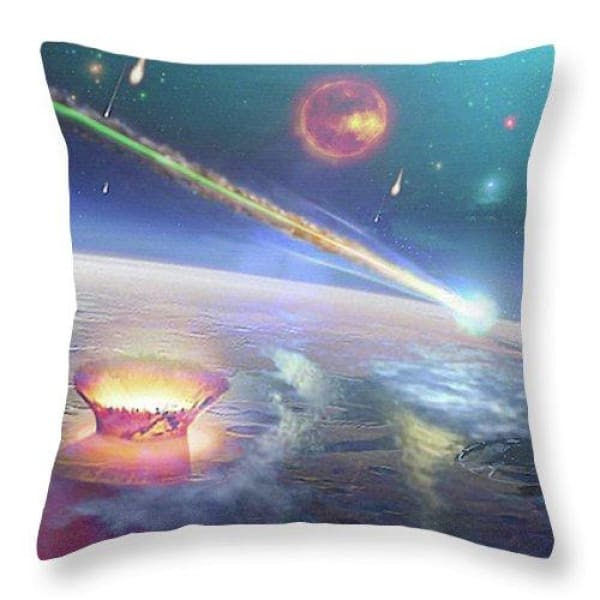 Restless Planet - Throw Pillow - 18 x 18 / Yes - Throw Pillow