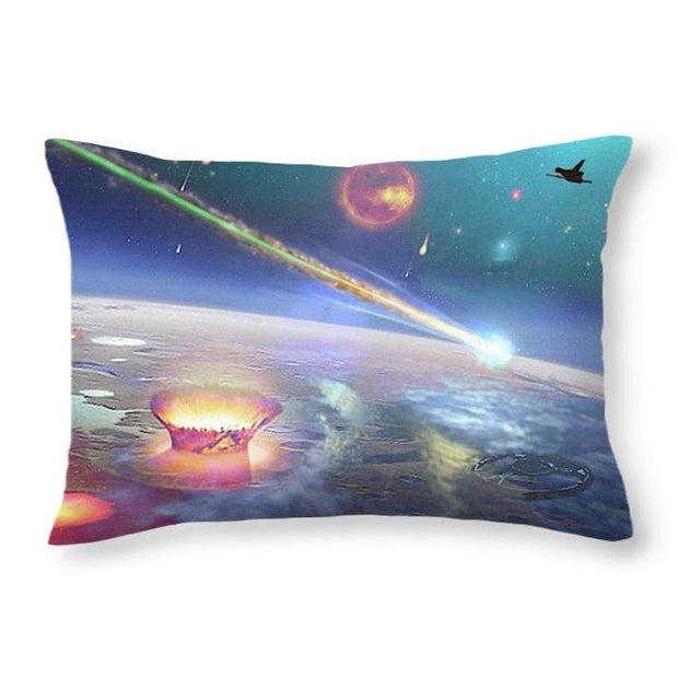 Restless Planet - Throw Pillow - 20 x 14 / No - Throw Pillow