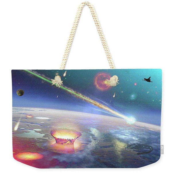 Restless Planet - Weekender Tote Bag - 24 x 16 / Natural - Weekender Tote Bag