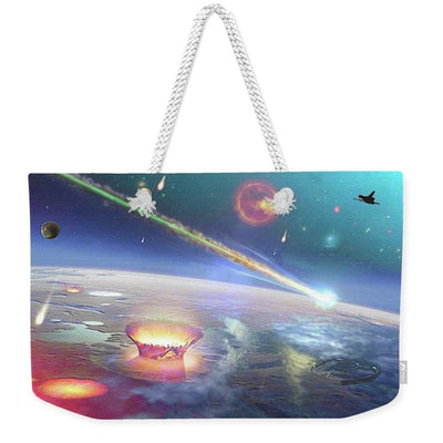 Restless Planet - Weekender Tote Bag - 24 x 16 / White - Weekender Tote Bag