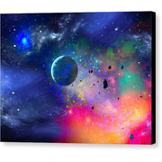 Rogue Planet - Canvas Print - 8.000 x 6.000 / Black / Glossy - Canvas Print