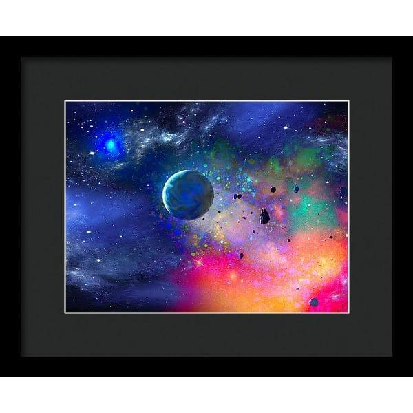 Rogue Planet - Framed Print - 12.000 x 9.000 / Black / Black - Framed Print