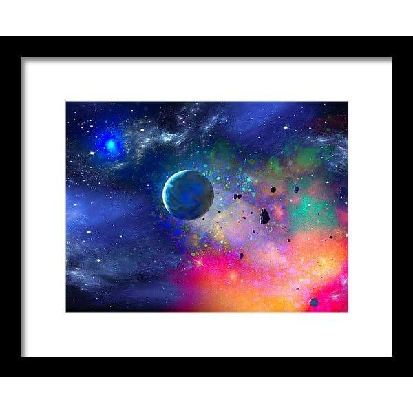 Rogue Planet - Framed Print - 12.000 x 9.000 / Black / White - Framed Print