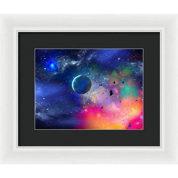 Rogue Planet - Framed Print - 12.000 x 9.000 / White / Black - Framed Print