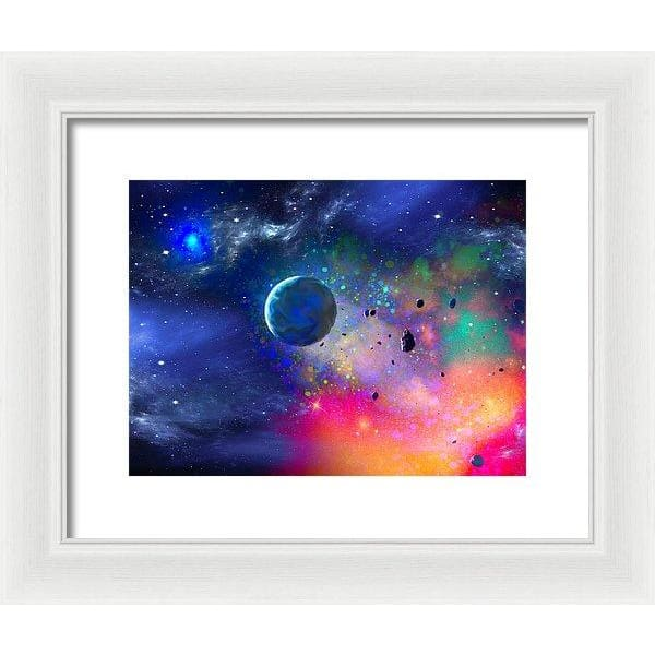 Rogue Planet - Framed Print - 12.000 x 9.000 / White / White - Framed Print