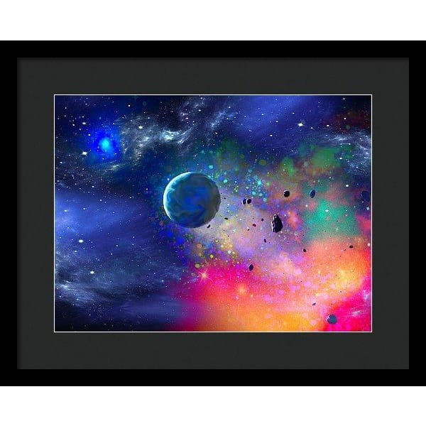 Rogue Planet - Framed Print - 16.000 x 12.000 / Black / Black - Framed Print
