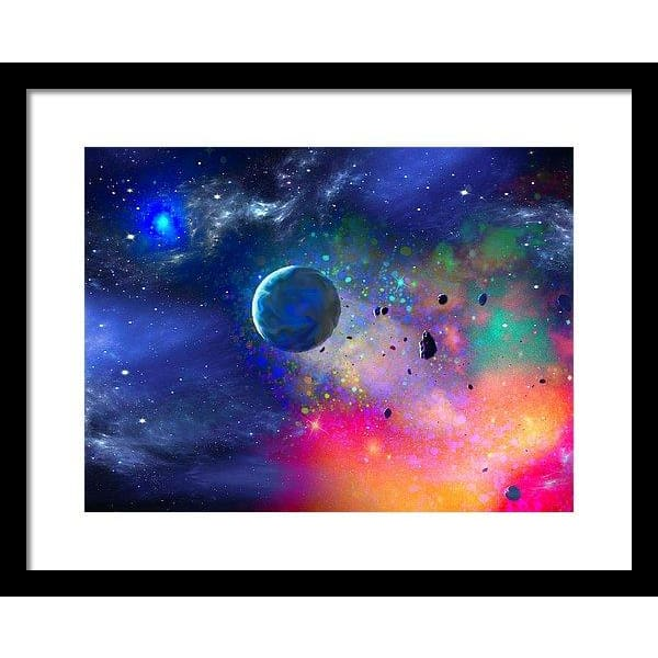 Rogue Planet - Framed Print - 16.000 x 12.000 / Black / White - Framed Print