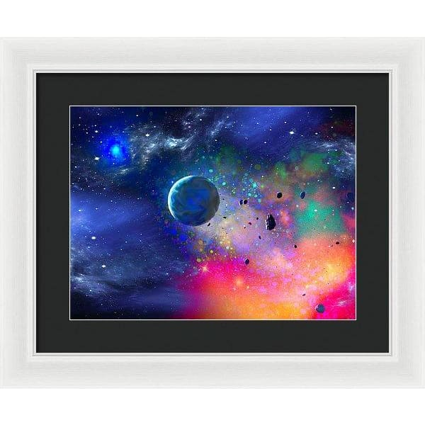 Rogue Planet - Framed Print - 16.000 x 12.000 / White / Black - Framed Print