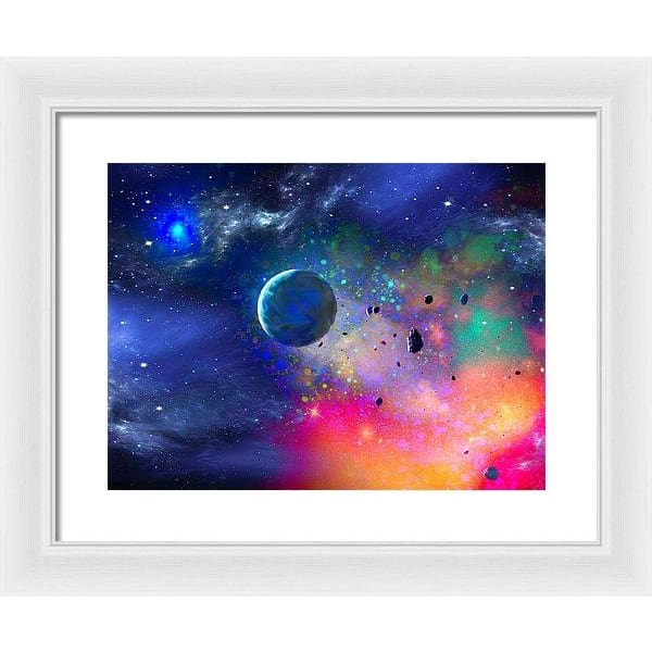 Rogue Planet - Framed Print - 16.000 x 12.000 / White / White - Framed Print