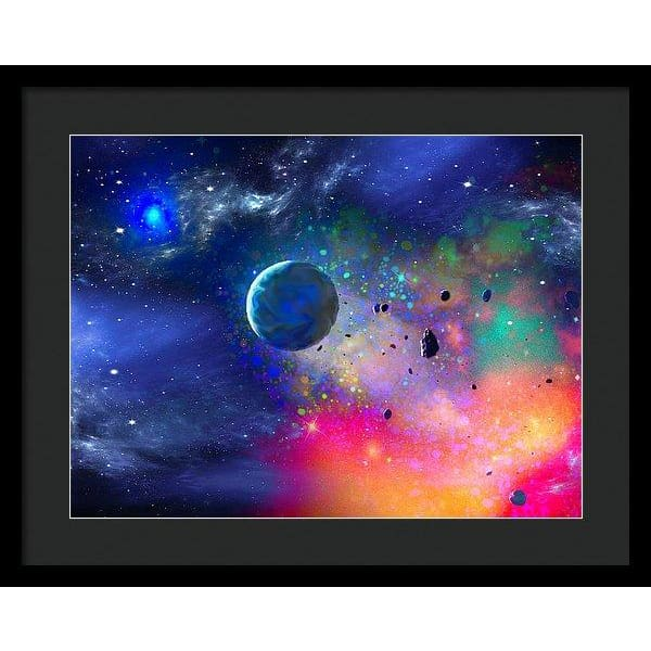 Rogue Planet - Framed Print - 20.000 x 15.000 / Black / Black - Framed Print