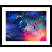 Rogue Planet - Framed Print - 20.000 x 15.000 / Black / White - Framed Print