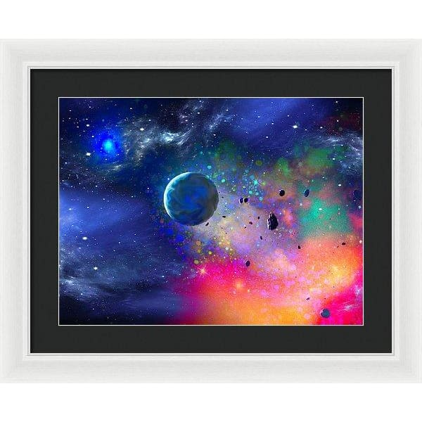 Rogue Planet - Framed Print - 20.000 x 15.000 / White / Black - Framed Print