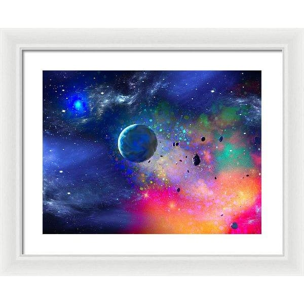 Rogue Planet - Framed Print - 20.000 x 15.000 / White / White - Framed Print