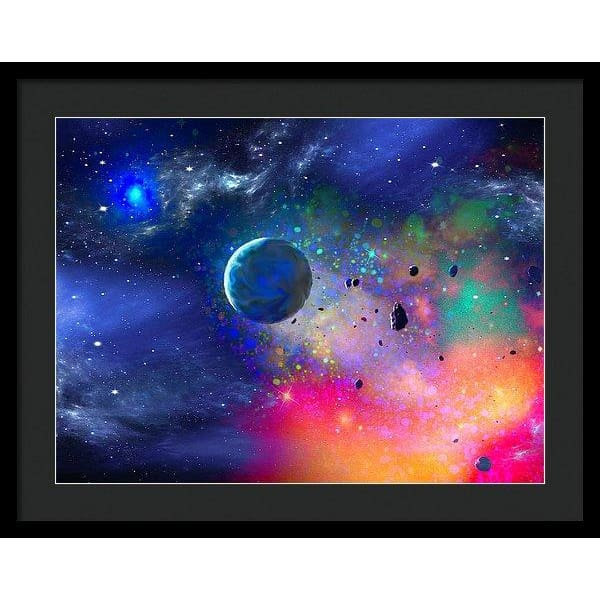 Rogue Planet - Framed Print - 24.000 x 18.000 / Black / Black - Framed Print