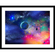 Rogue Planet - Framed Print - 24.000 x 18.000 / Black / White - Framed Print