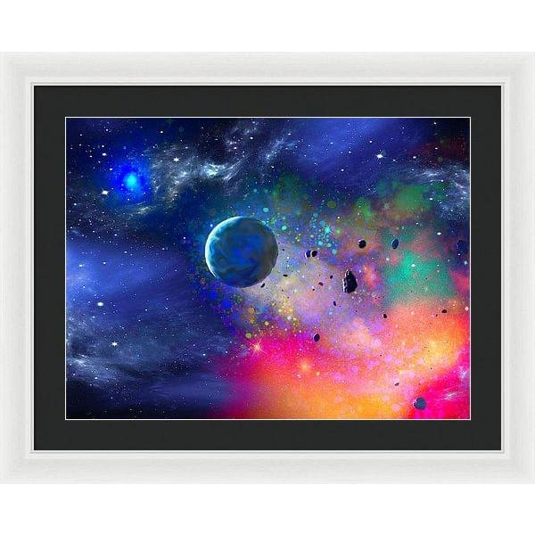 Rogue Planet - Framed Print - 24.000 x 18.000 / White / Black - Framed Print
