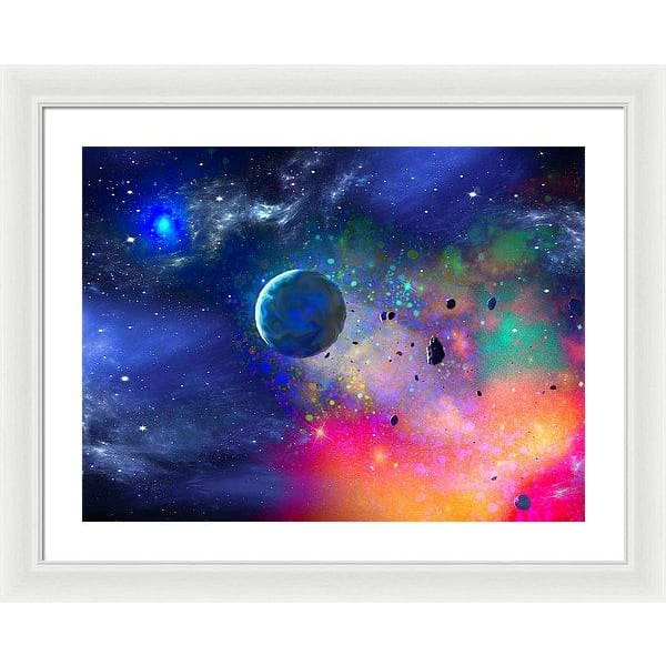 Rogue Planet - Framed Print - 24.000 x 18.000 / White / White - Framed Print