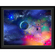 Rogue Planet - Framed Print - 36.000 x 27.000 / Black / Black - Framed Print