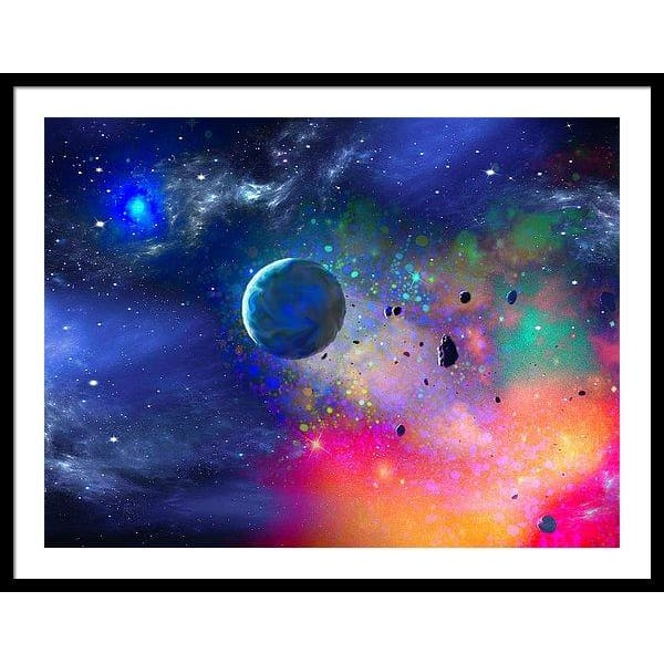 Rogue Planet - Framed Print - 36.000 x 27.000 / Black / White - Framed Print