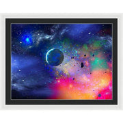 Rogue Planet - Framed Print - 36.000 x 27.000 / White / Black - Framed Print