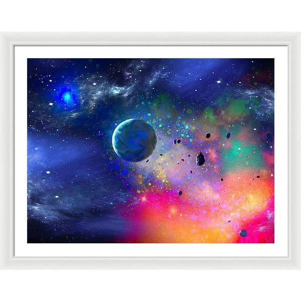 Rogue Planet - Framed Print - 36.000 x 27.000 / White / White - Framed Print