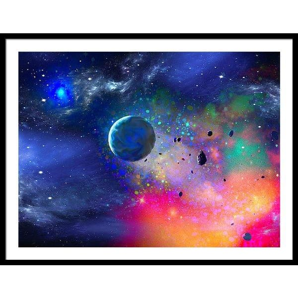Rogue Planet - Framed Print - 40.000 x 30.000 / Black / White - Framed Print